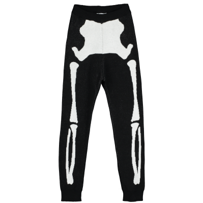 Knit Tracked Suit Pants - Skeleton