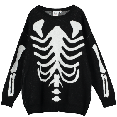 Knit Tracked Suit Sweater - Skeleton