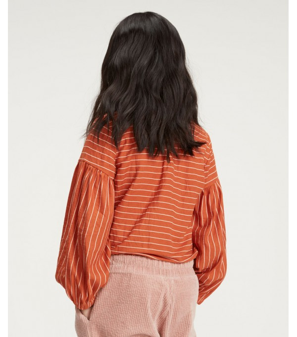 Carmine stripes blouse