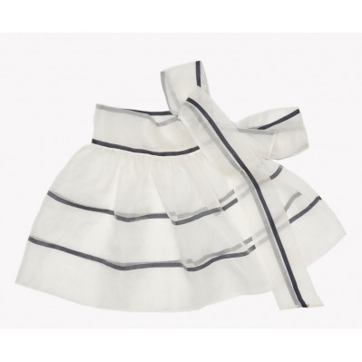 Striped organza skirt