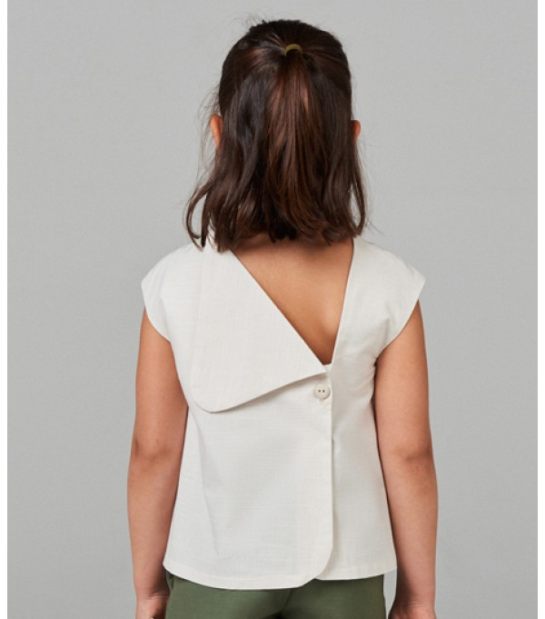 Pale Pink Blouse with back detail