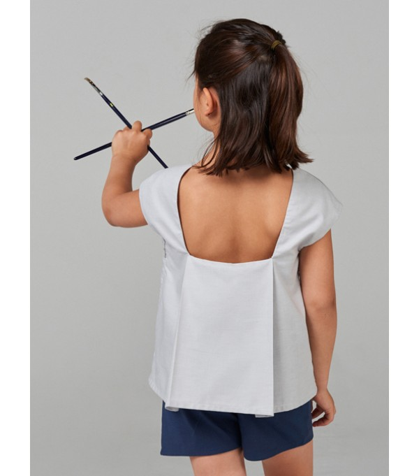 Pale Burgundy blouse with pleated back