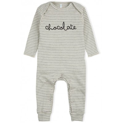Stripy CHOCOLATE Playsuit