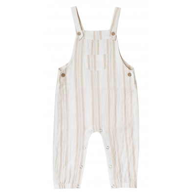 Sand stripe baby overall