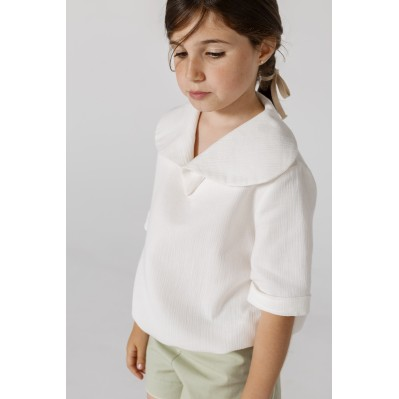 Round Collar Blouse