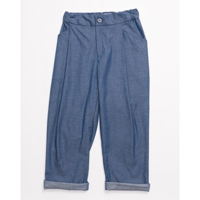 Relaxed Pants-Denim