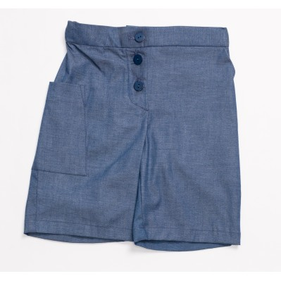 Pocket shorts-Denim