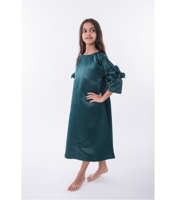 ASH7 - Green Bow Kaftan