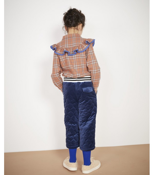 Blue Velvet quilted culottes