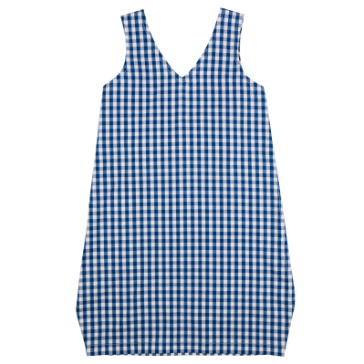 Bow Dress - Navy Gingham