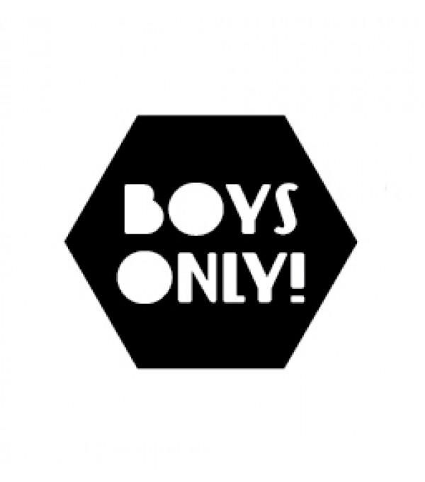 Boys only wall sticker