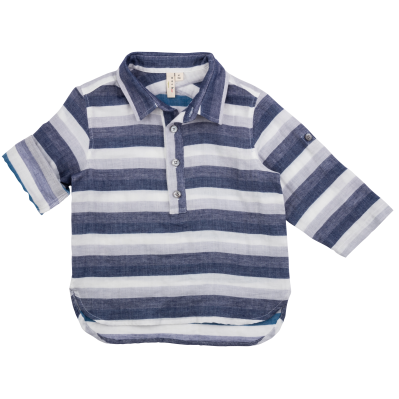 Camp Shirt - Blue Blanket Stripes
