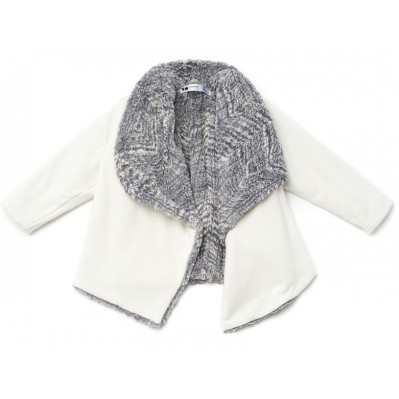 Draped Jacket With Faux Fur Lining