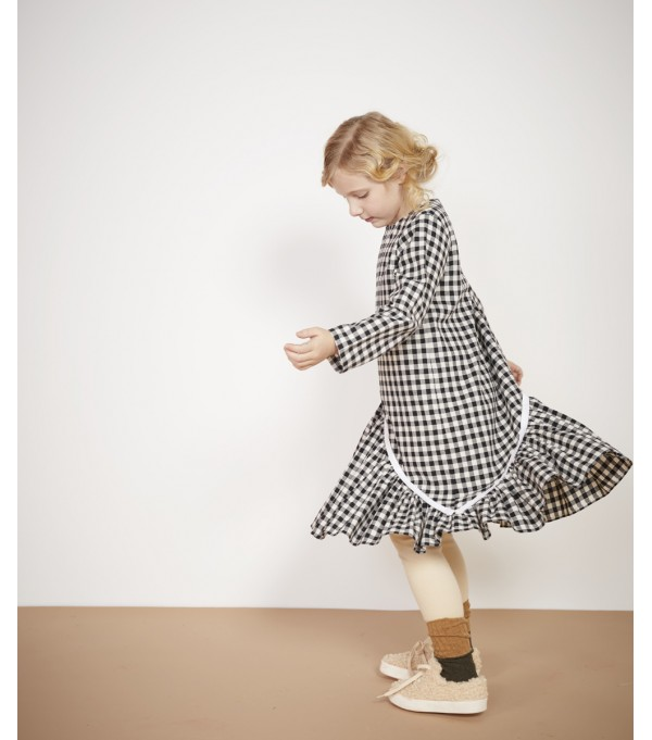 Gingham Asymmetrical Dress