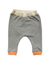 Grey Pants with Orange Cuffs