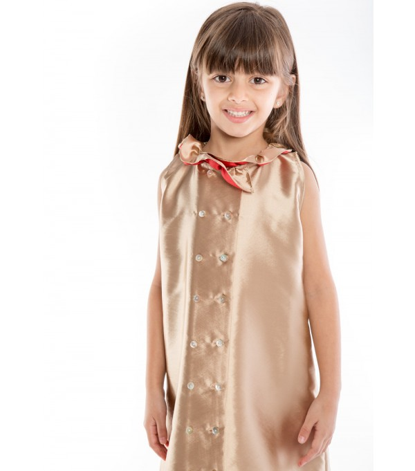 IAM MAI - Gold Button Down Dress