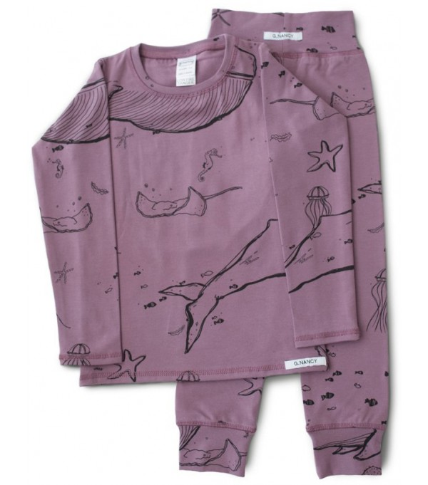 "Jelly ""Under the Sea""  Long PJ set"