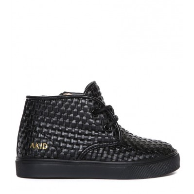 Knight (Black Leather Weave)