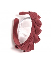 Knotted Ribbon Headband - Berry