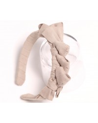 Knotted Ribbon Headband - Pebble