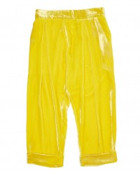 Lemon yellow velvet trousers