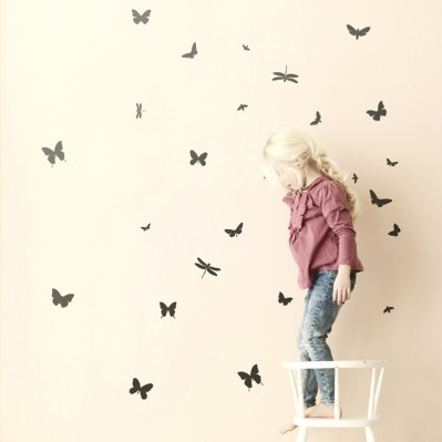 Mini Butterflies Wall sticker - Black