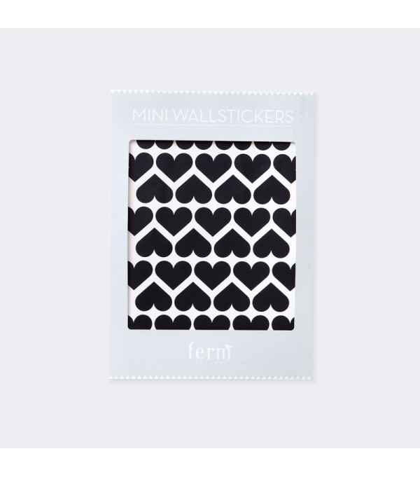 Mini Hearts Wall Sticker - Black