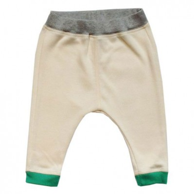 Natural Pants with Green Cuffs