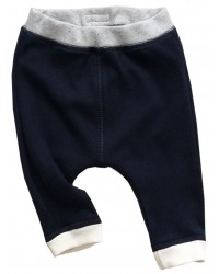 Navy Blue Pants with Natural Cuffs