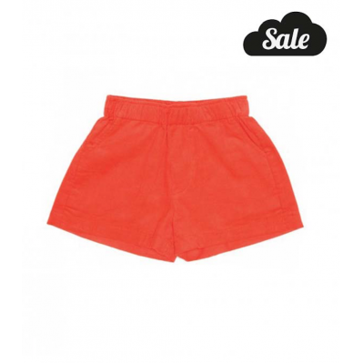 Orange / red corduroy Short shorts