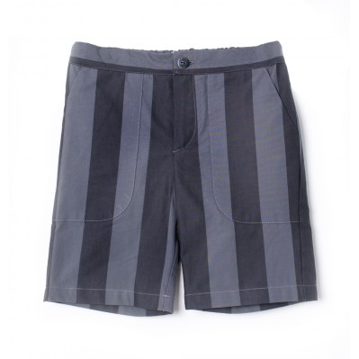 Pocket Pant - B/G Stripes