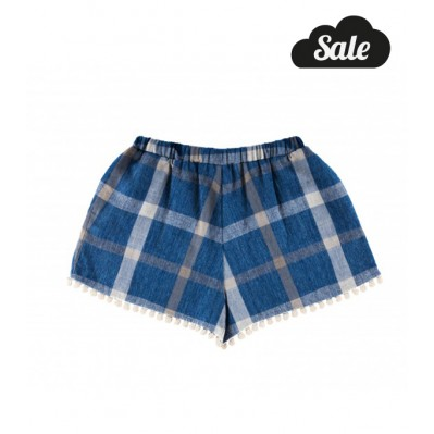 Pompom Shorts - Navy Check
