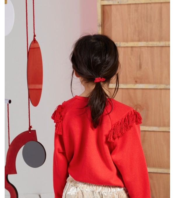 Red Tassel Sweatshirt