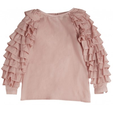 Rose Ruffled Sleeve Blouse