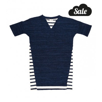 Tee Dress - Indigo/ Stripe