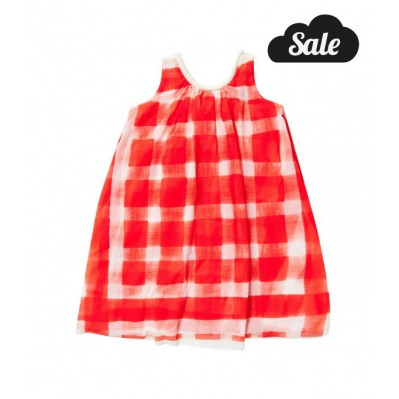 Tent Dress With Gingham Print