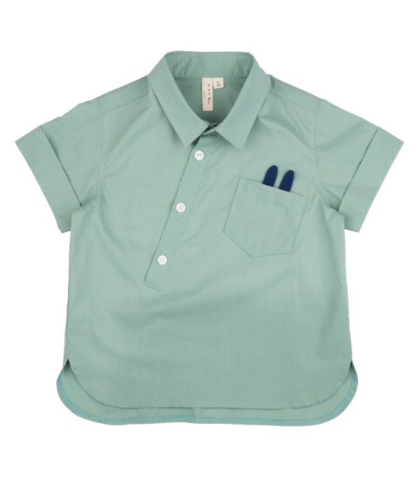 Tilted Shirt - Beryl Green