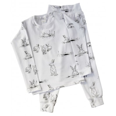 White Rabbit Long PJ set
