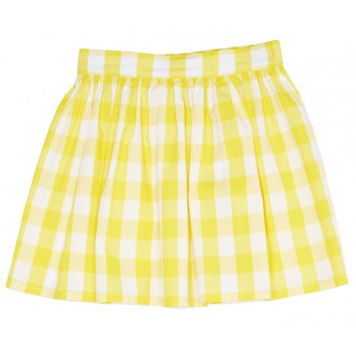 Yellow gingham skirt